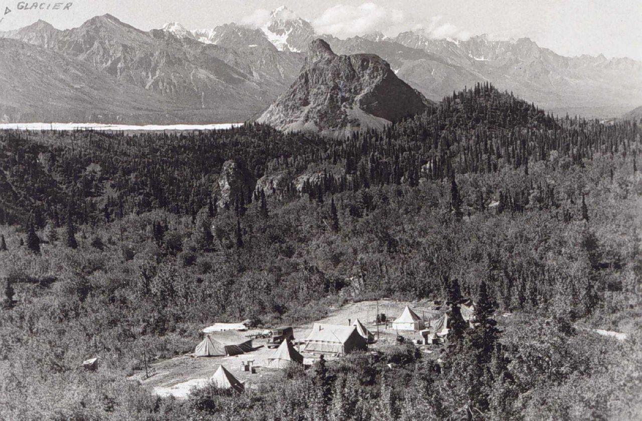 Base camp at Sheep Mountain near the Glenn Highway Photo