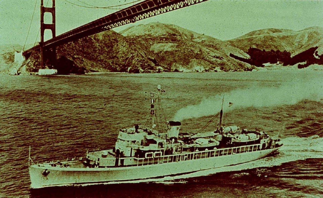 C&GS Ship PIONEER under Golden Gate Bridge Photo