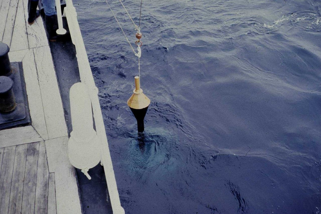 Recovering drift buoy dropped from aircraft in North Pacific Photo
