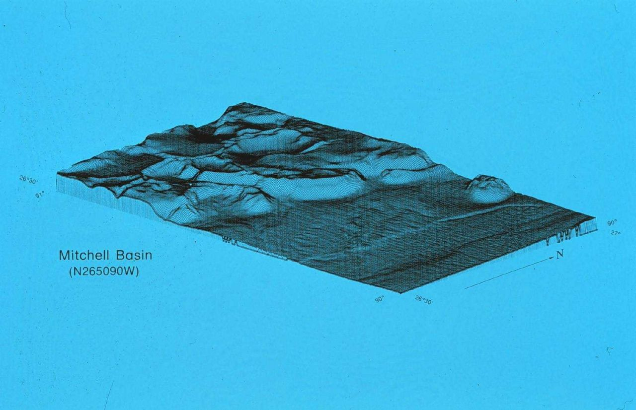 3-D image NOAA Exclusive Economic Zone Mapping Project Photo