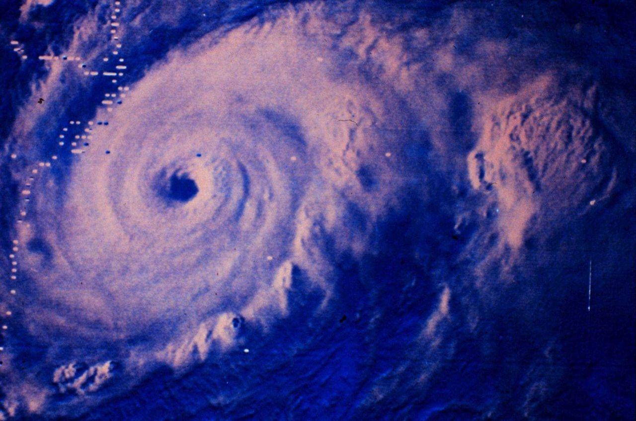 Hurricane Anita approaching landfall on the coast of Mexico Photo