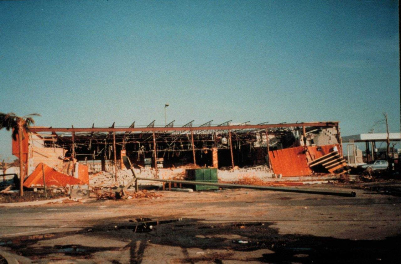 Hurricane Andrew - A retail store in the Cutler Ridge Mall north of Homestead Photo