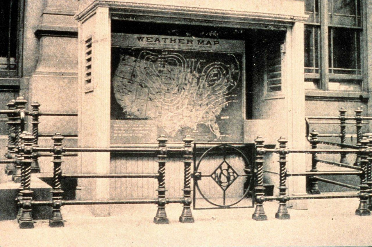 National weather map outside of Department of Commerce Building Photo