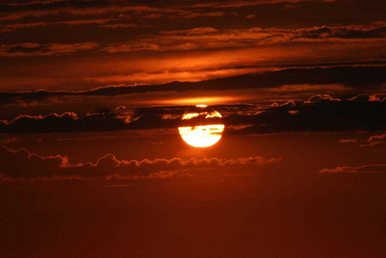 Sunset at sea. Photo