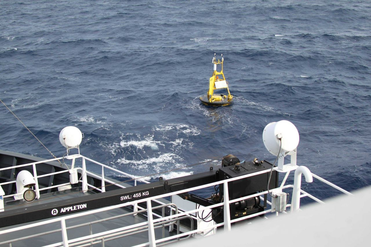 Meteorological buoy 42003 26 03 N Latitude and 85 37 W Longitude in the East Central Gulf of Mexico. Photo