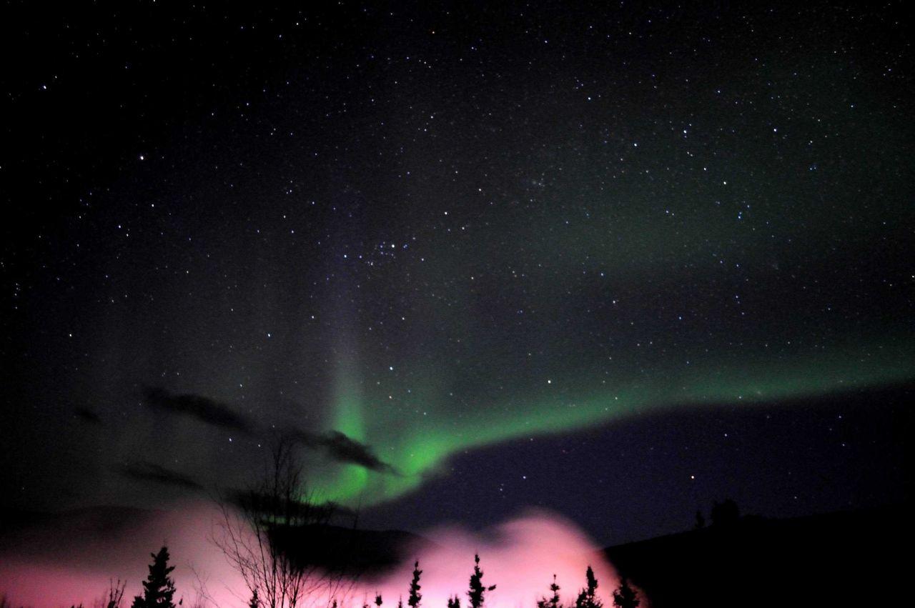 Aurora borealis - the Northern Lights. Photo