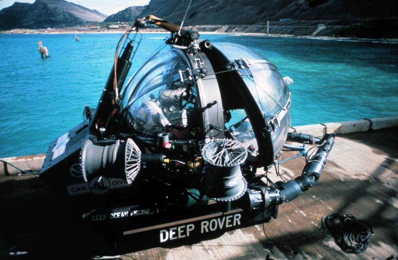 DEEP ROVER is a one person sub with an acryllic sphere. Photo