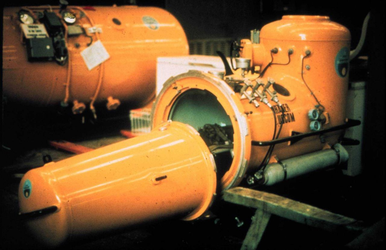 One person Drager recompression chamber. Photo