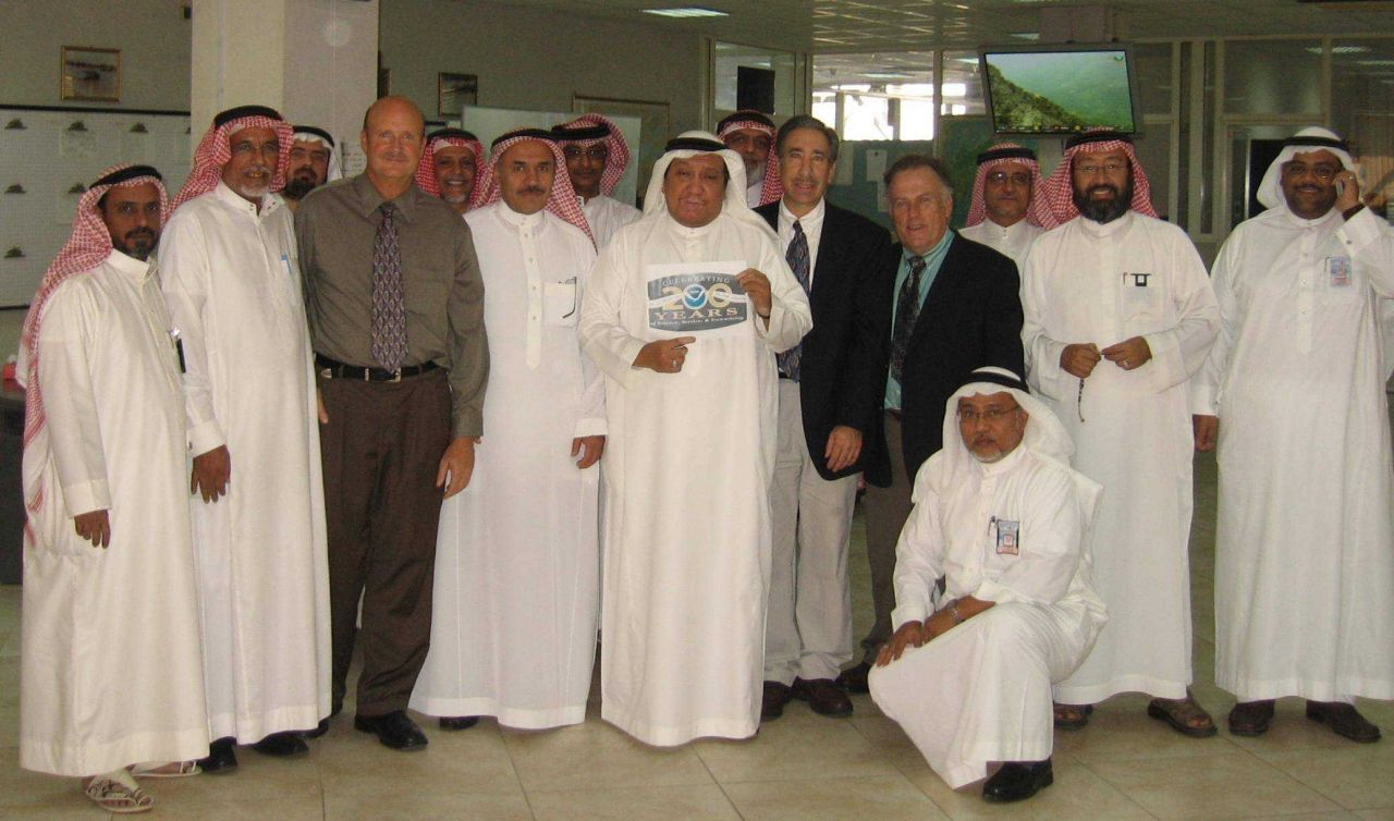 Greetings from Saudi Arabia! Charlie Paxton from NOAA's Tampa Bay Area National Weather Service office, Jeffrey Stuart from NOAA's National Weather Se Photo