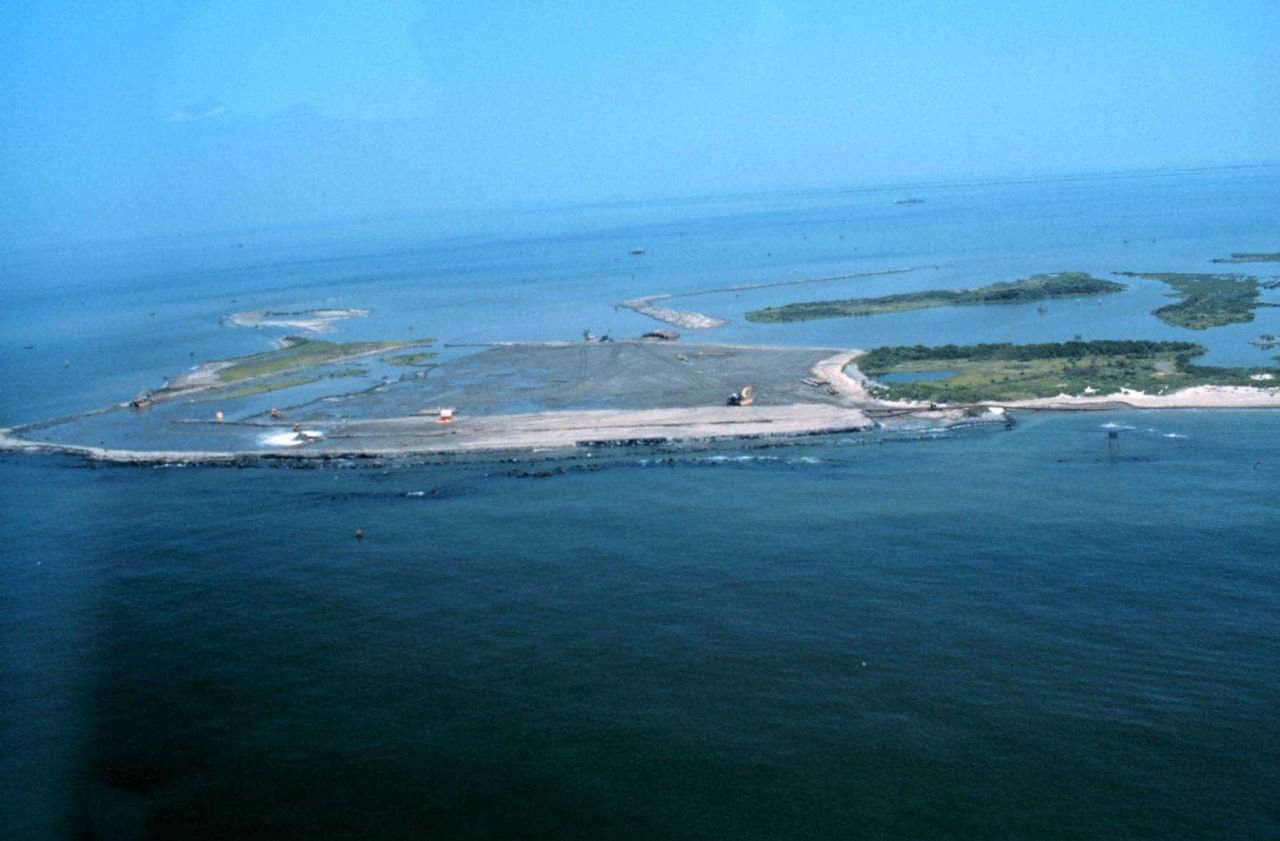 The Gulf of Mexico at the west end of the project. Photo