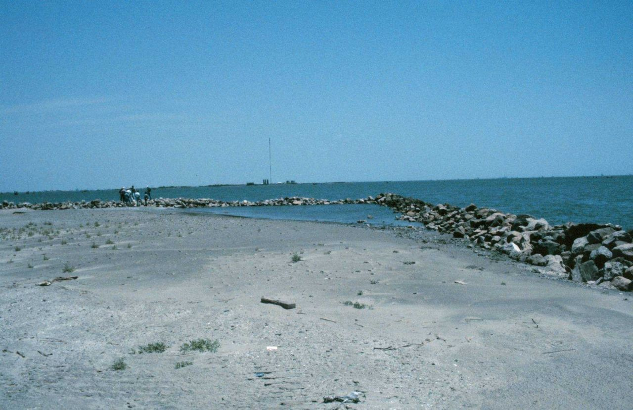 This view shows a southeast exposure where areas of erosion are evident. Photo