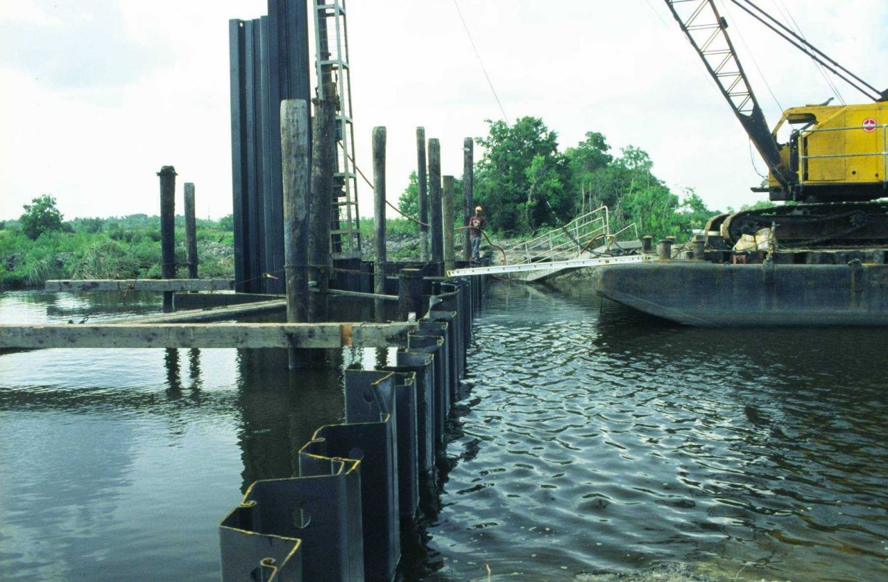 A view of where the self- regulating tide gate will be installed. Photo