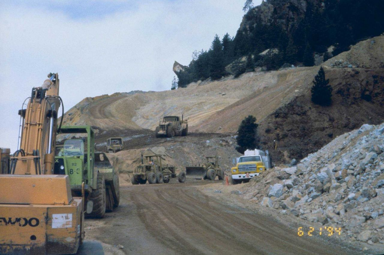 Remedial activity at Iron Mountain Mine included collecting and treating acid drainage from mine run off Photo