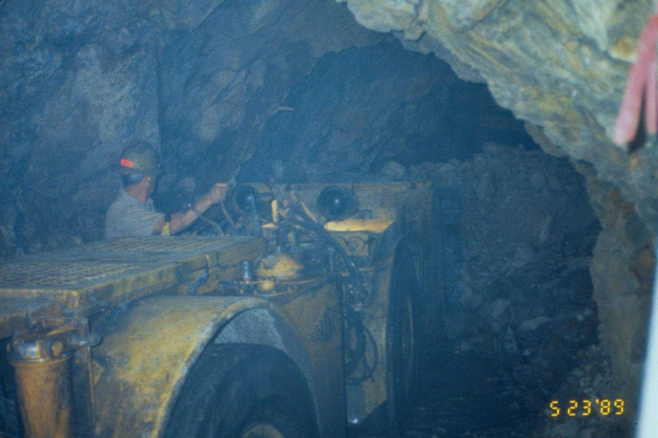 Mucking out the tunnel at Iron Mountain Mine Photo