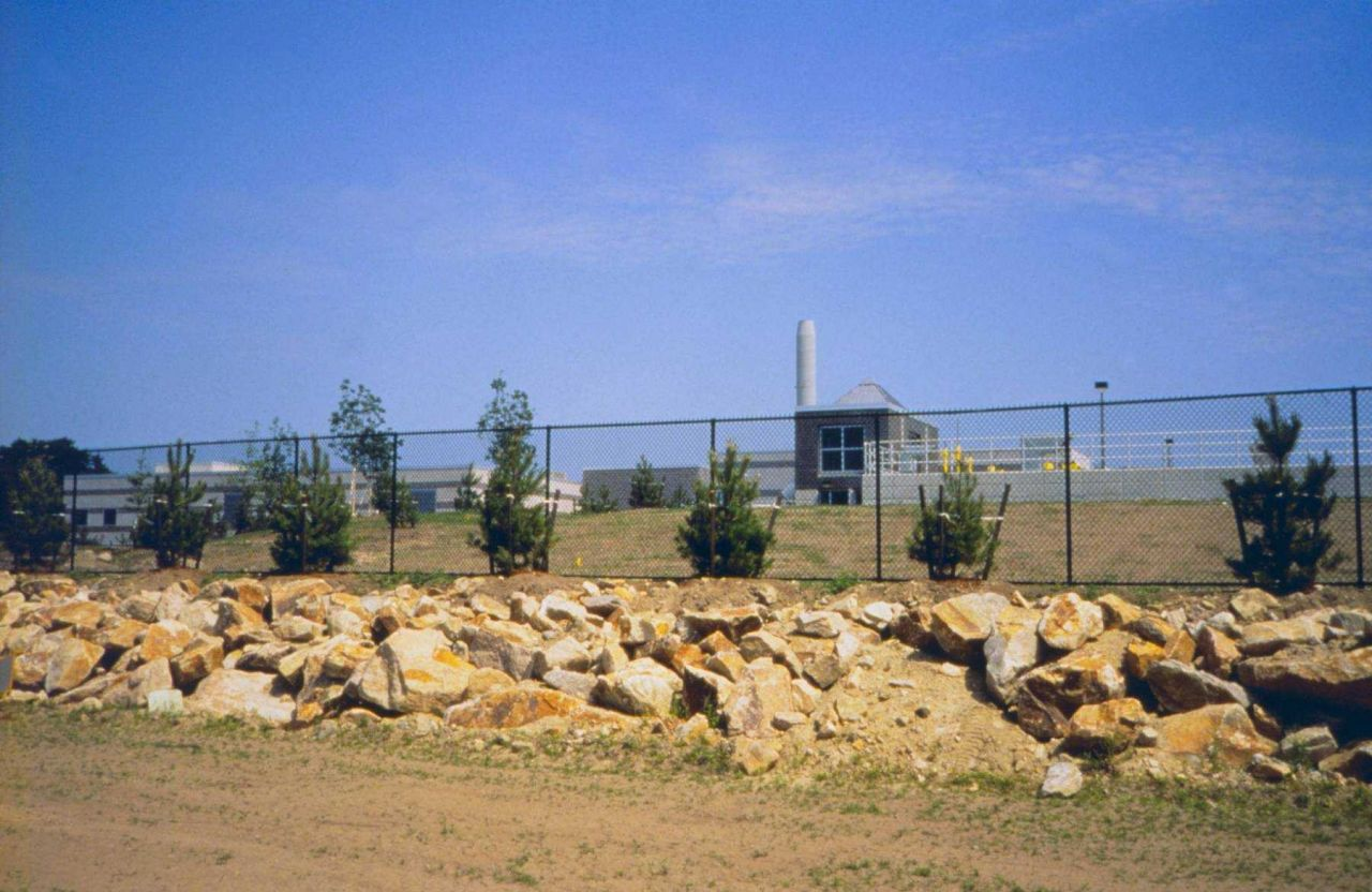 A view of the new wastewater treatment plant at Fort Taber. Photo