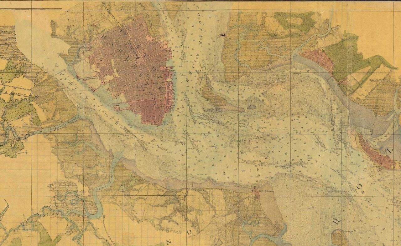 Topographic Portion Map of City of Charleston & Ashley River. Photo