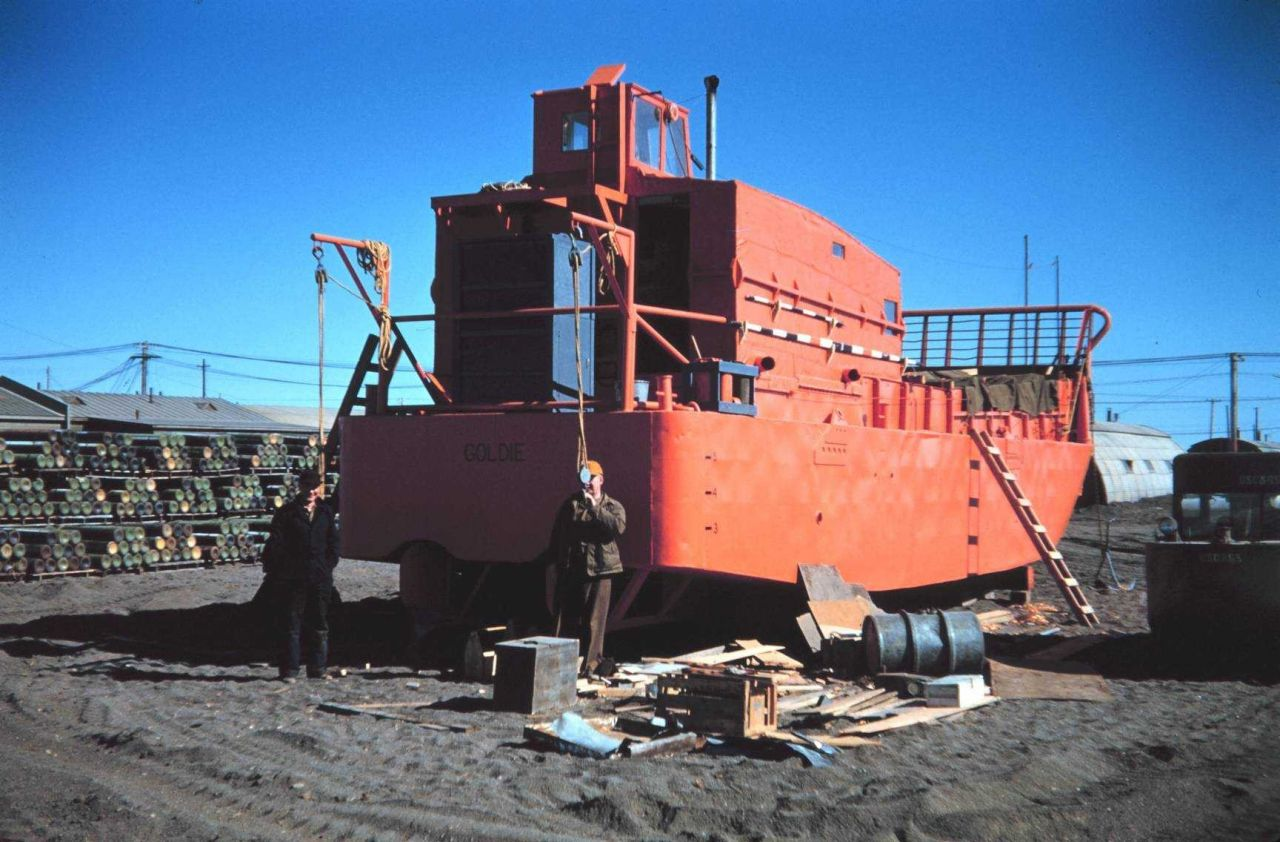 The starboard quarter view of the landing craft