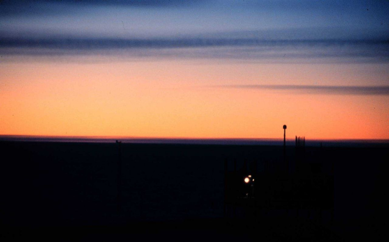 March sunset silhouetting the Clean Air Facility Photo