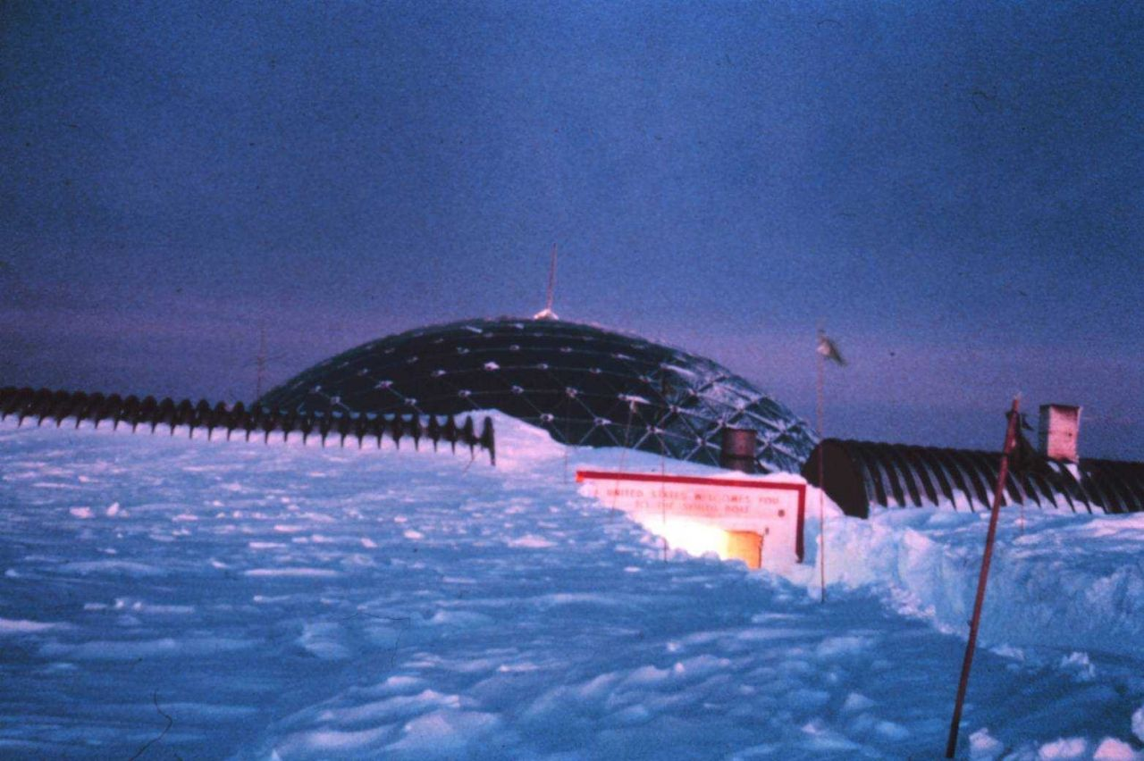 Spring twilight at South Pole Station Photo