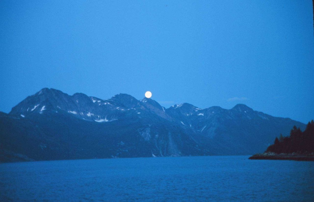 Moonrise at Glacier Bay Photo