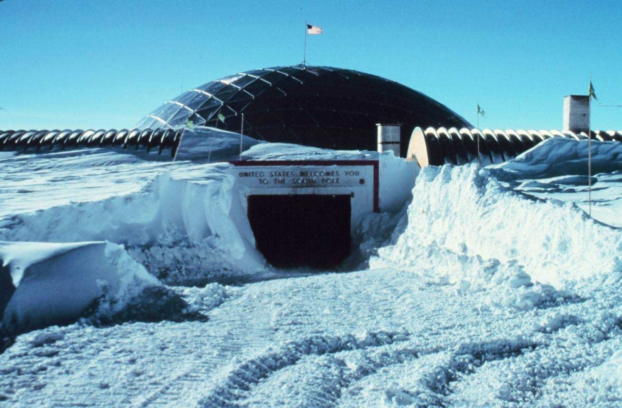The entrance to South Pole Station. Photo