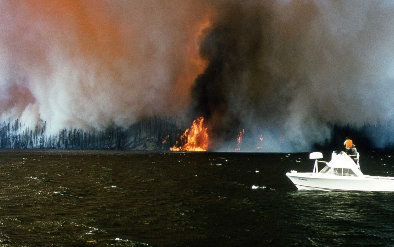 Continental Divide fire Photo