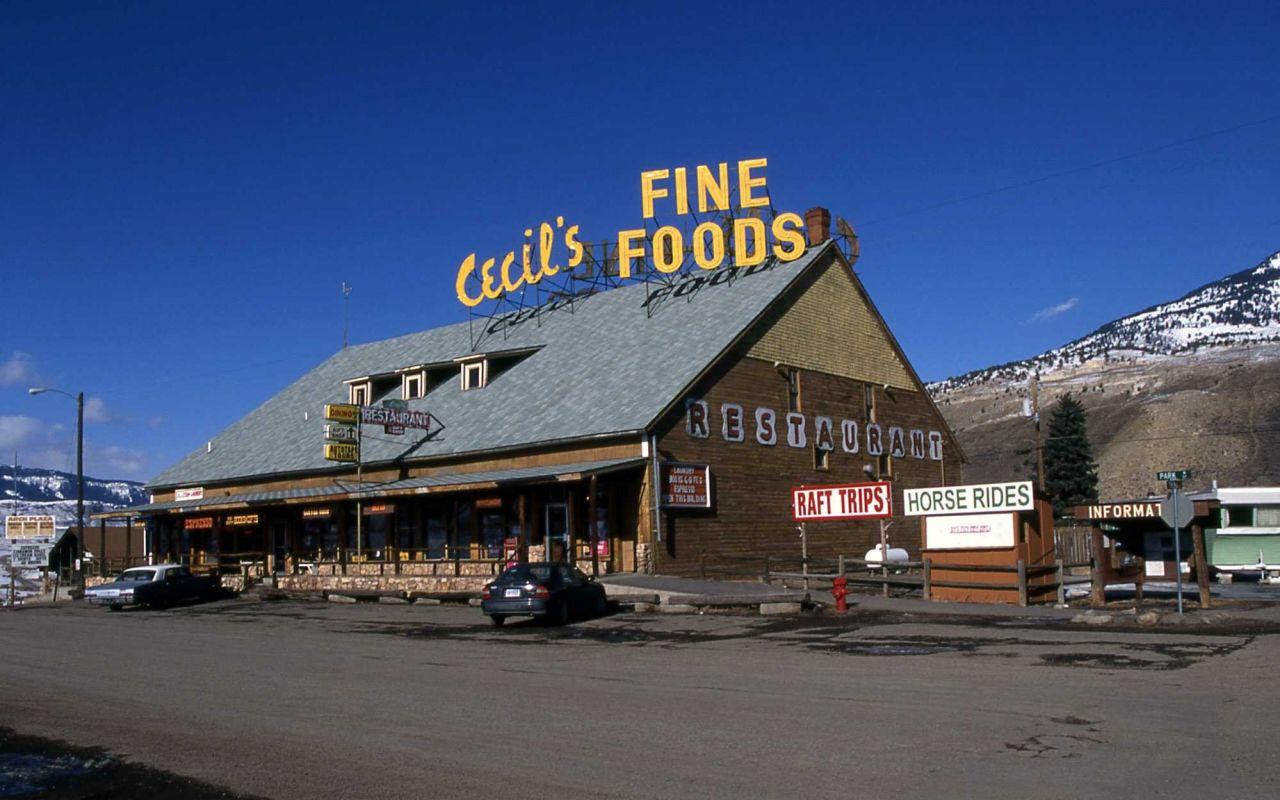 Cecil's building in Gardiner, Montana Photo