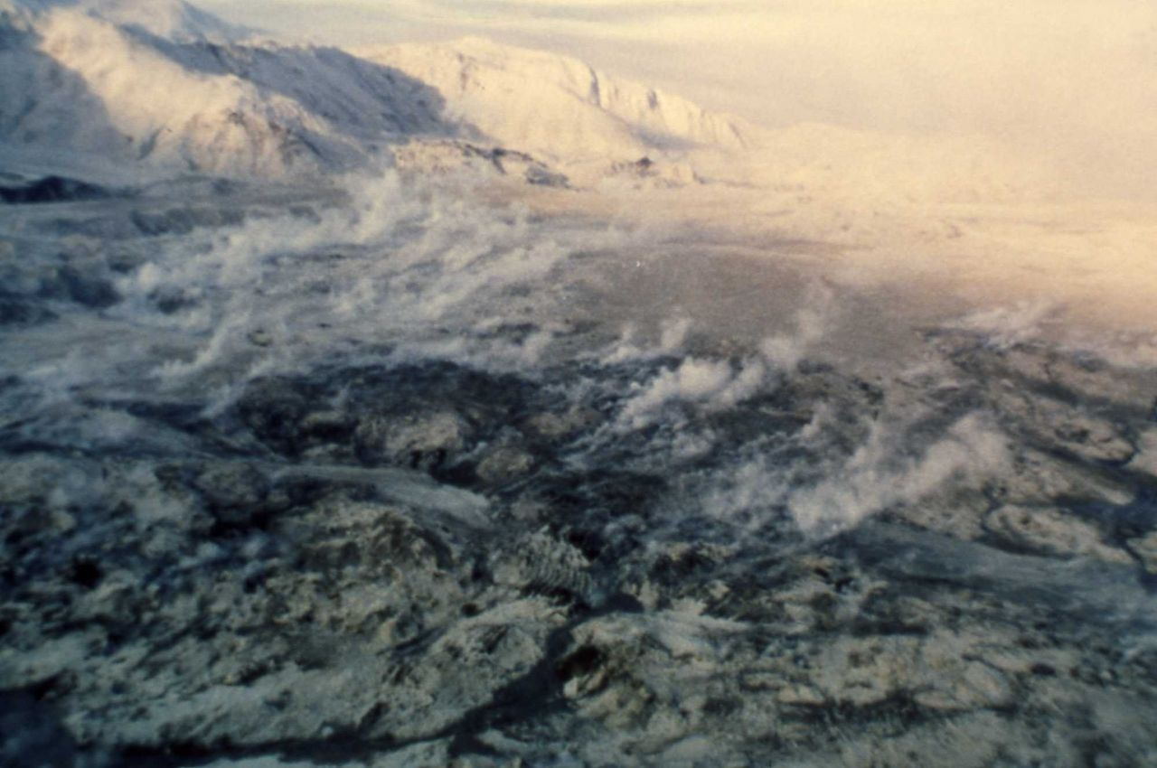 Mt St Helens May 19, 1980 mud flow Photo