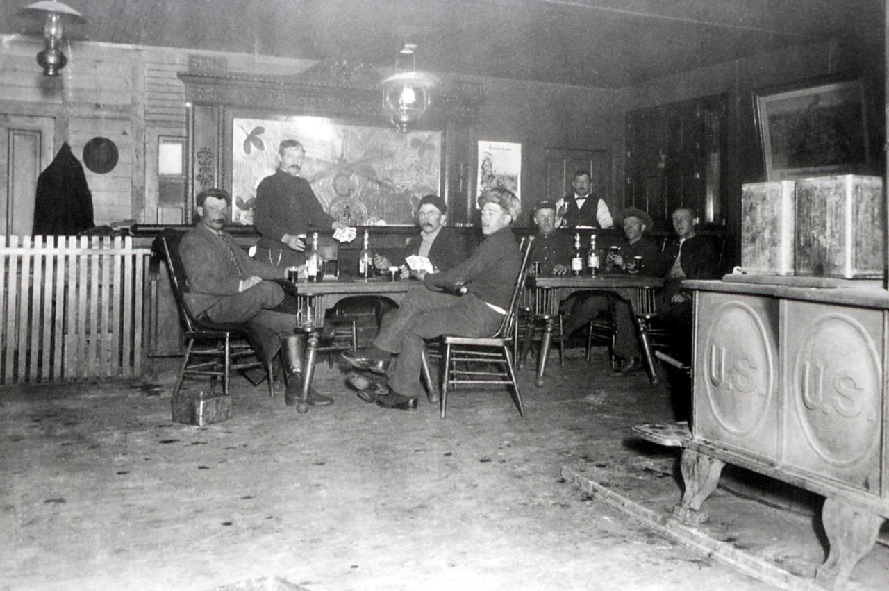 Men in Post Exchange at Fort Yellowstone Photo