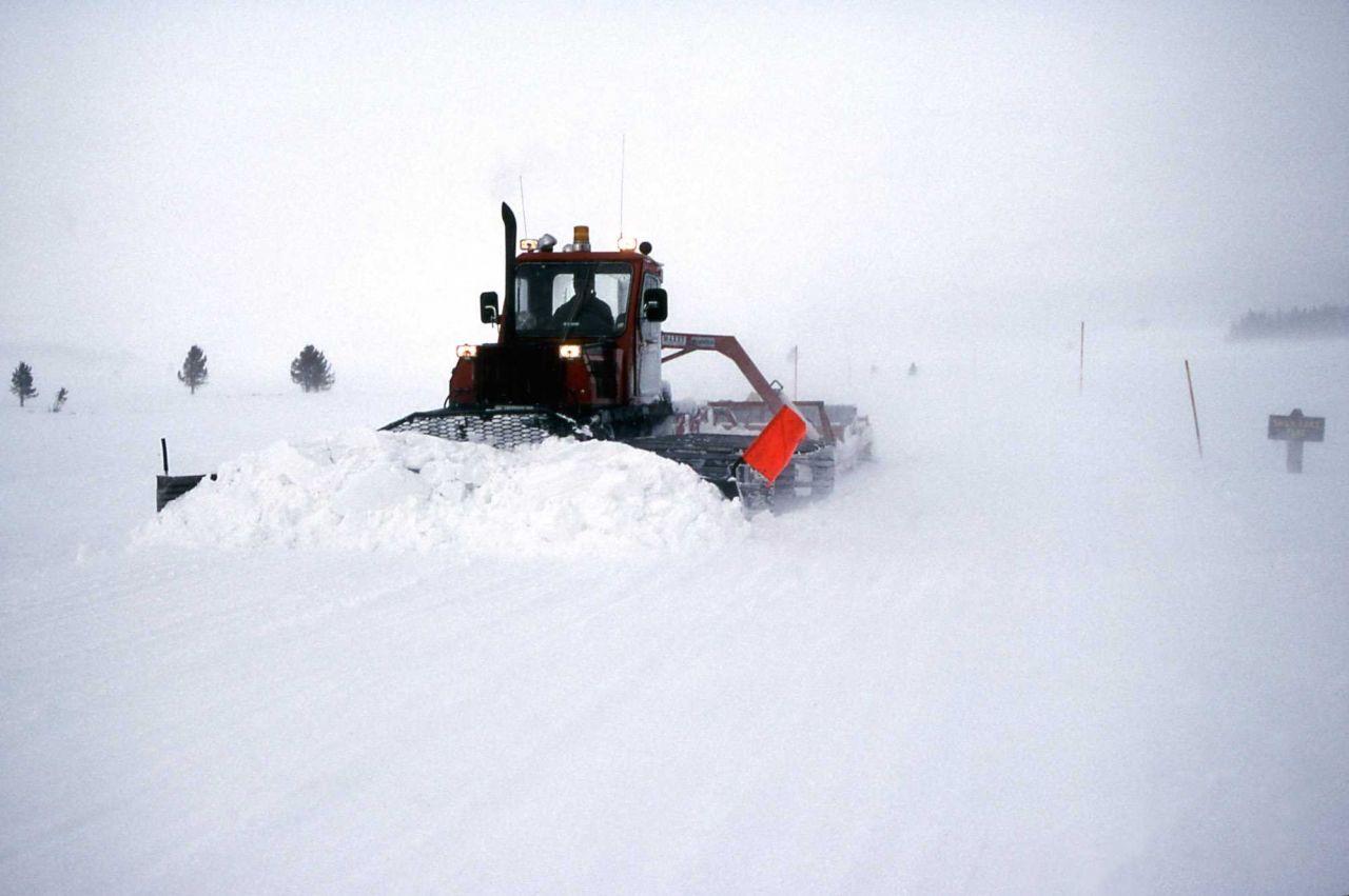 Snowplowing & trail grooming on Swan Lake Flats Photo