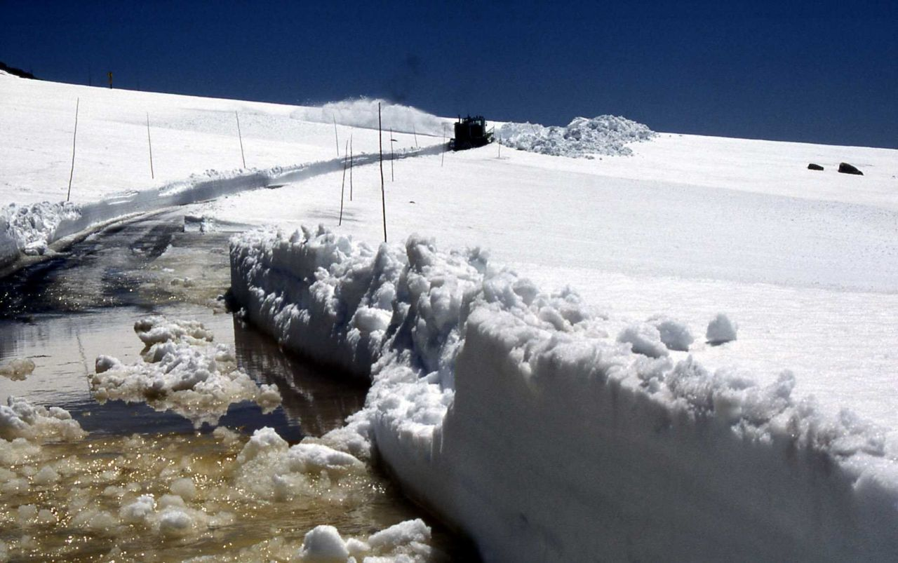 Beartooth Highway after snowplow has been through Photo