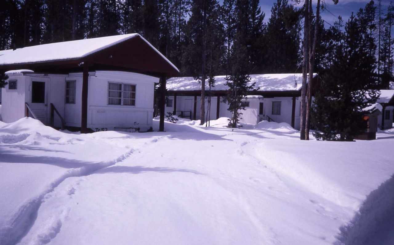 Old Faithful housing trailer 52 in winter Photo