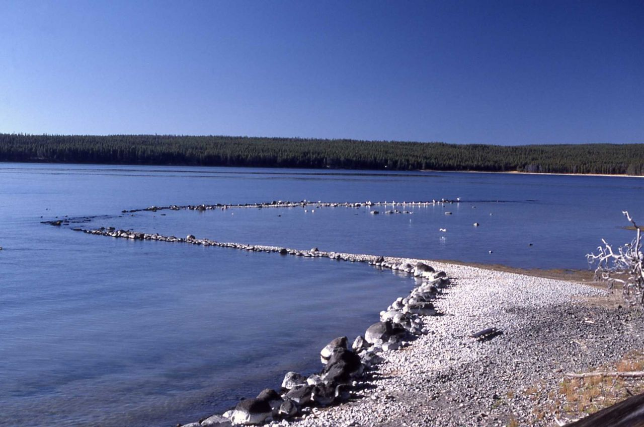 Fish trap in Yellowstone Lake near Bridge Bay - History - Indians Photo