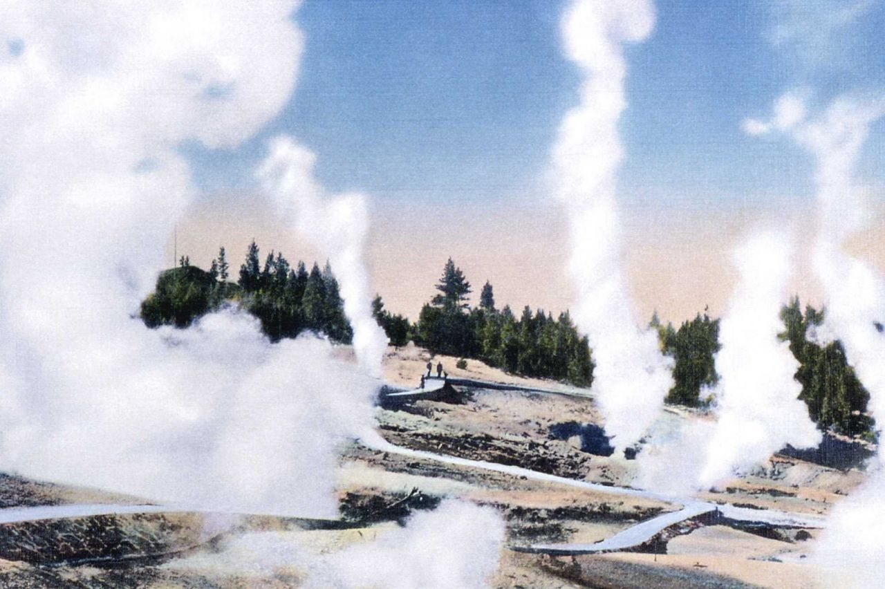 Postcard of Norris Geyser Basin Photo