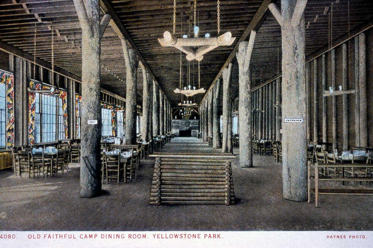 Postcard 4080 - Old Faithful Camp Dining Room Photo