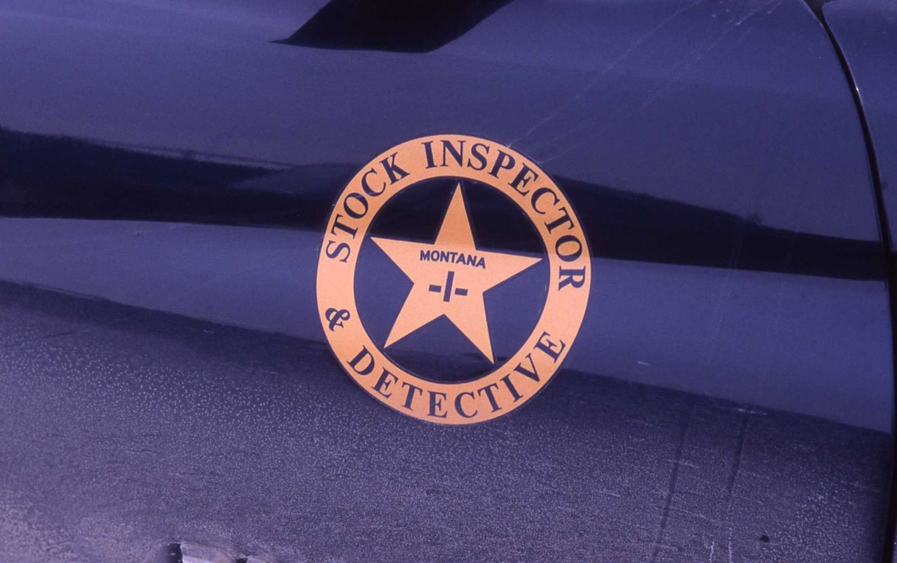 Stock Inspector & Detective emblem on car Photo