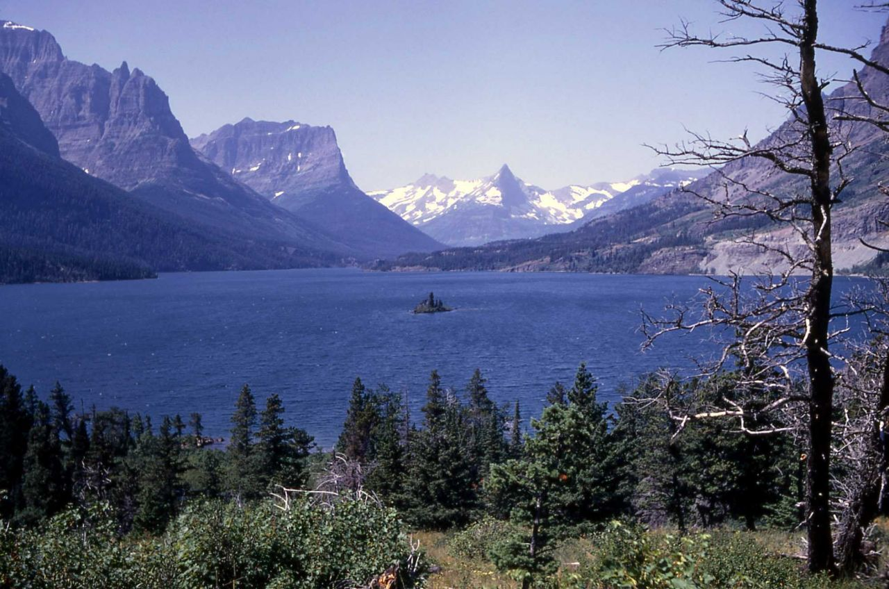 St Mary Lake with Wildgoose Island in the center, Glacier National Park Photo