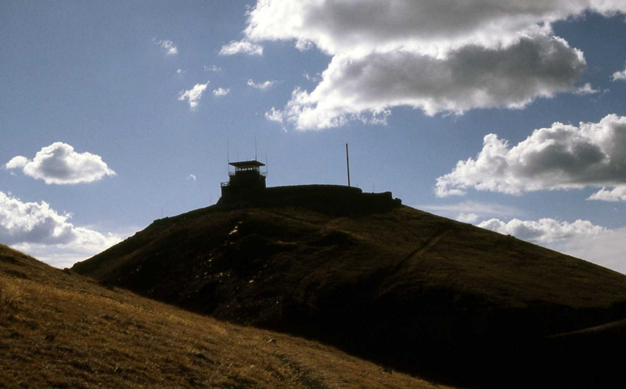 Fire lookout on Mt Washburn Photo
