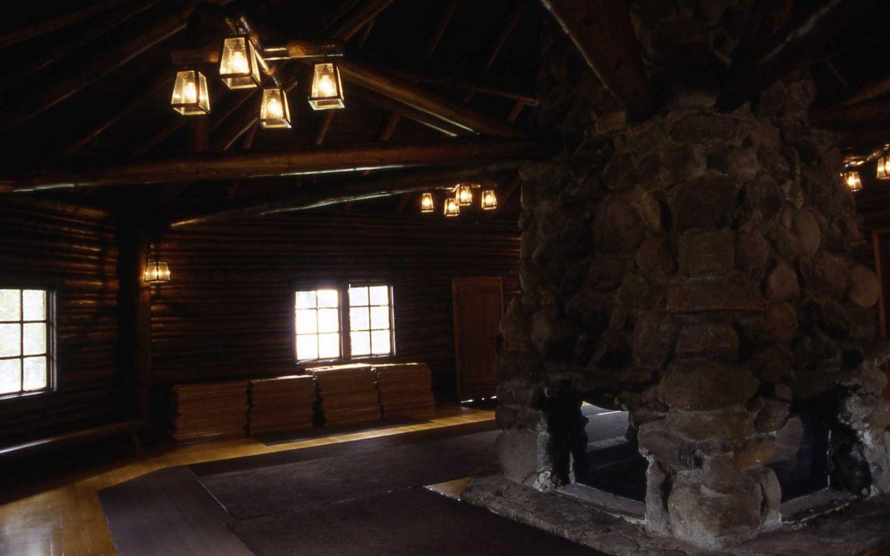 Interior of the Lake Ranger Station Photo
