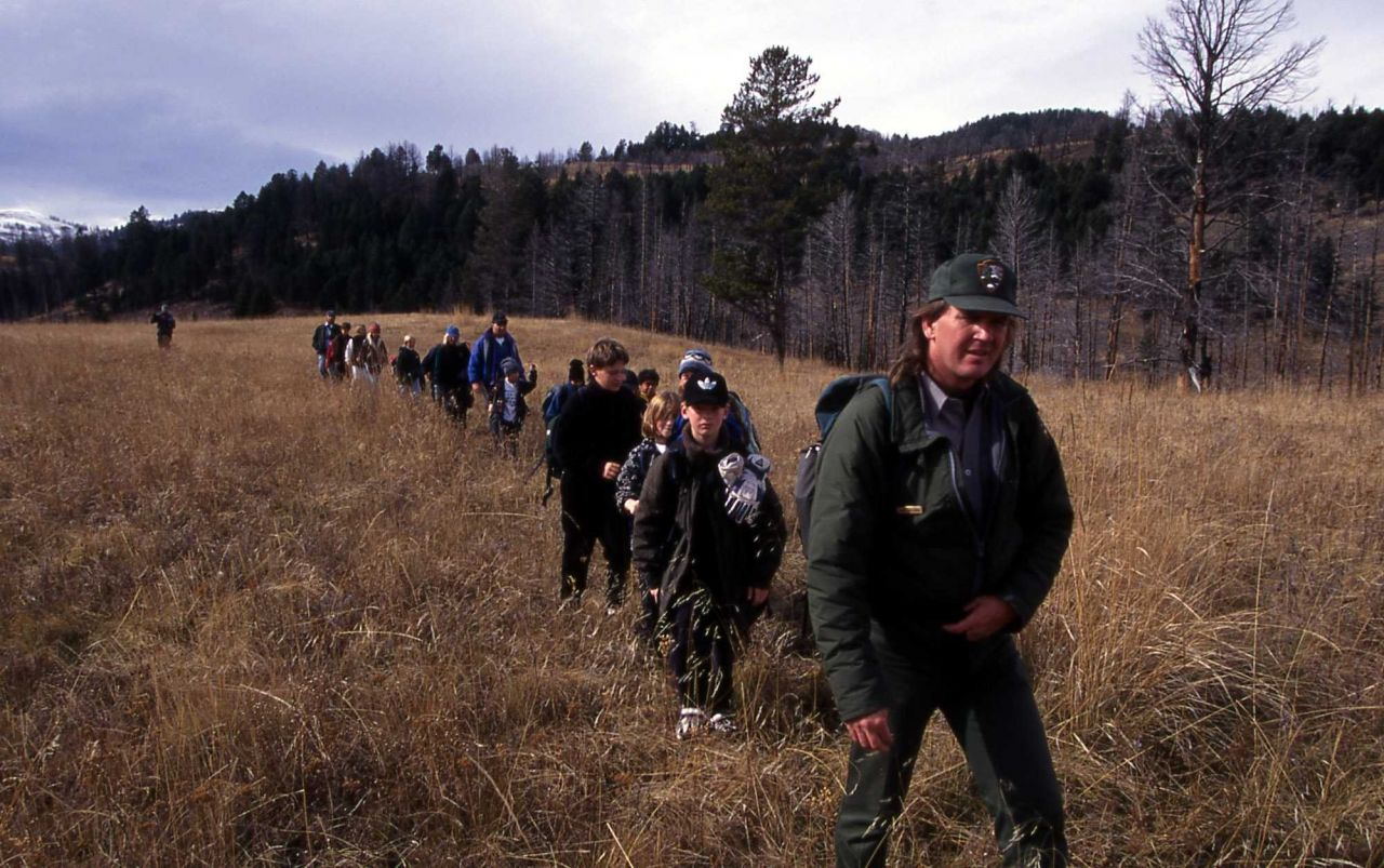 Ranger Mark Williams with Expedition Yellowstone; Photo