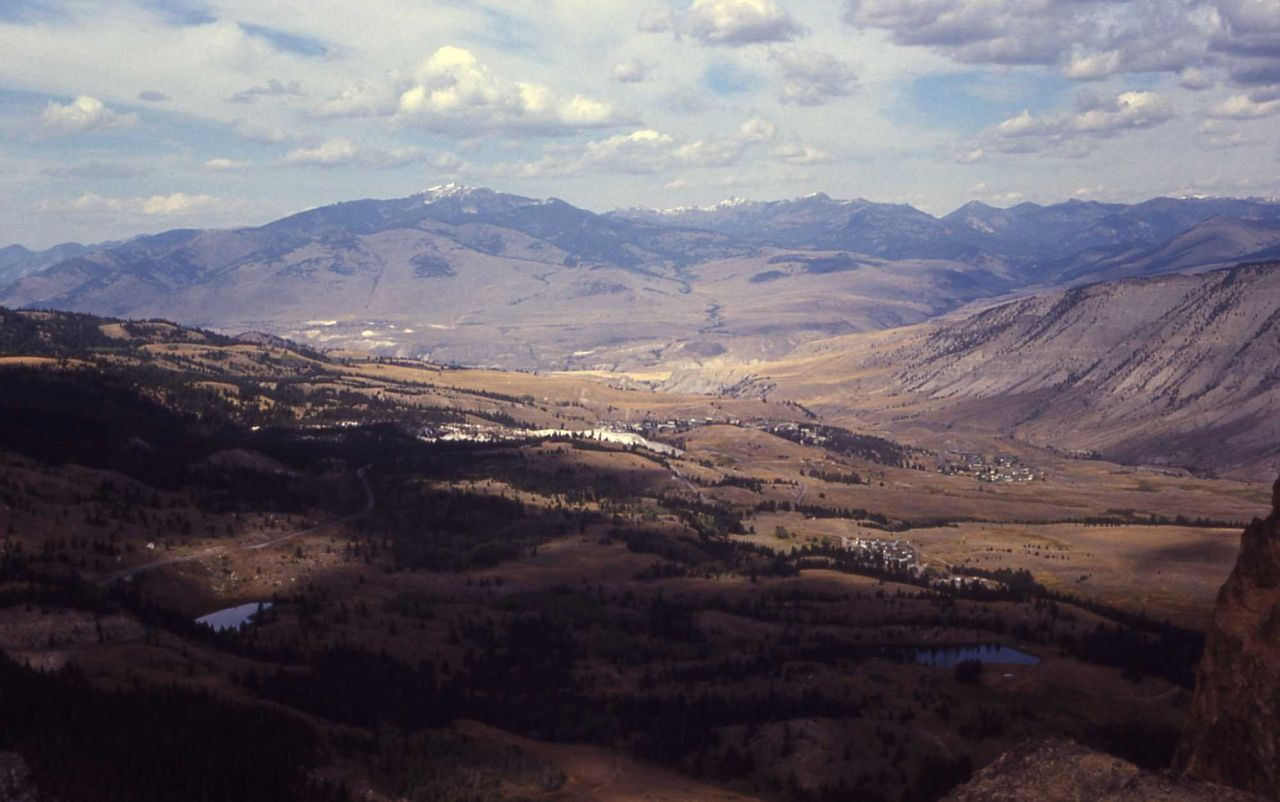 Mammoth as seen from Bunsen Peak Photo