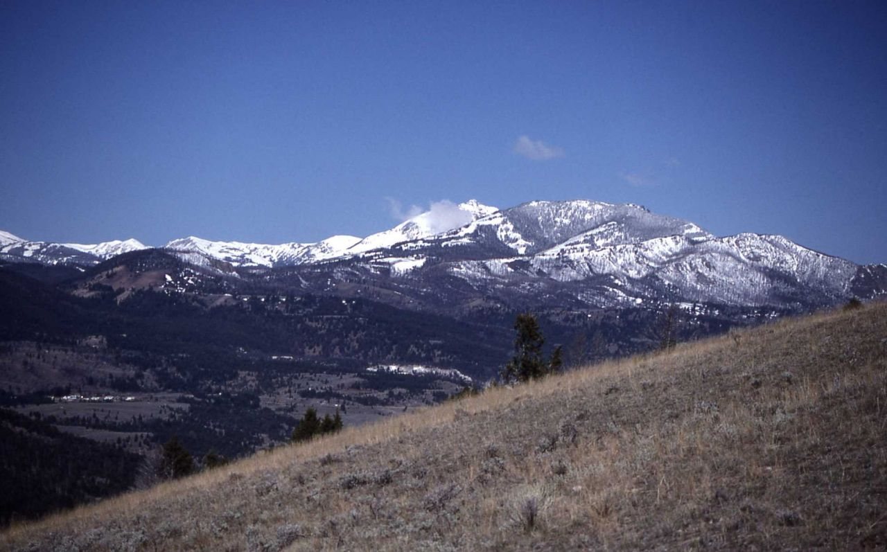 Gallatin Mountains as seen from Mt Everts Photo