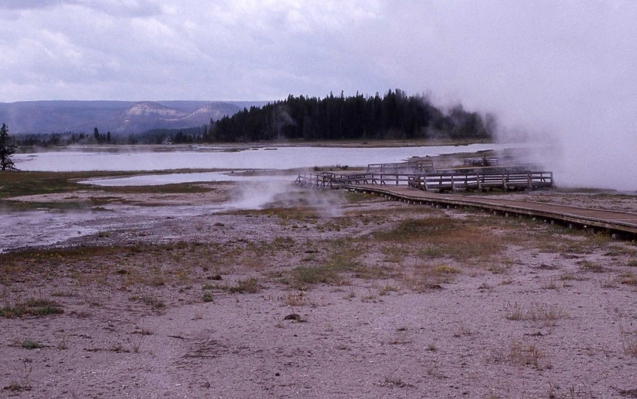 Hot Lake in the Firehole Lake area - Midway & Lower Geyser Basin Photo