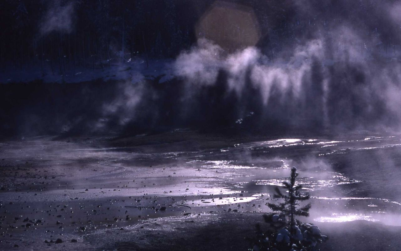 Shadows in the stream - Norris Geyser Basin Photo