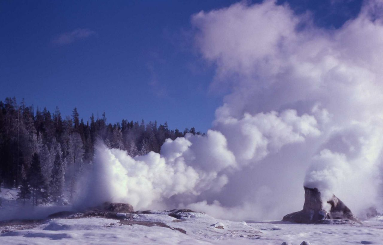 Giant Geyser - Upper Geyser Basin Photo