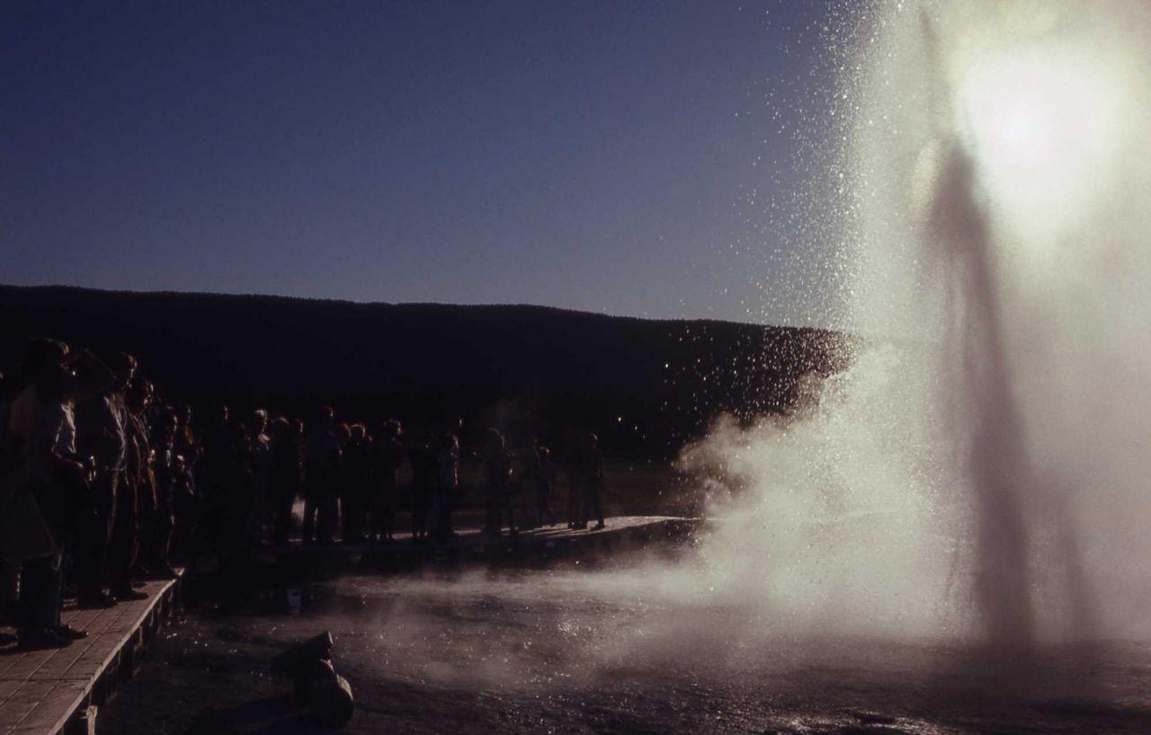 Plume Geyser - Upper Geyser Basin Photo