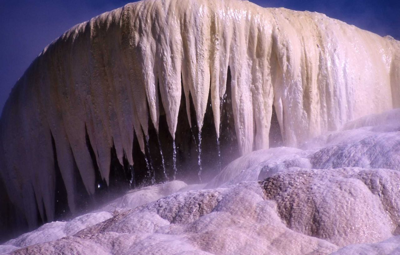New Highland Terrace - Mammoth Hot Springs Photo
