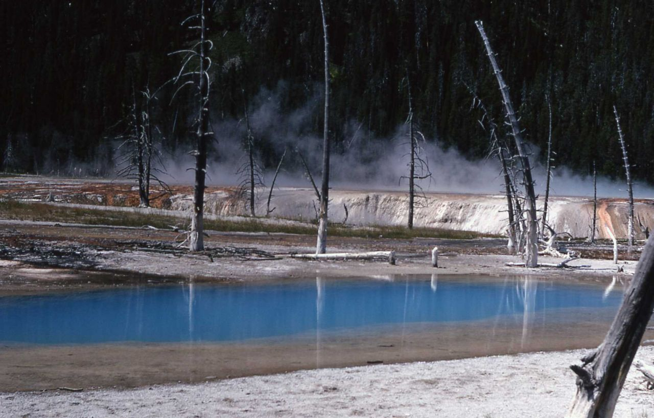 Opalescent Pool - Black Sand Basin - Hot Springs, Upper Geyser Basin Photo
