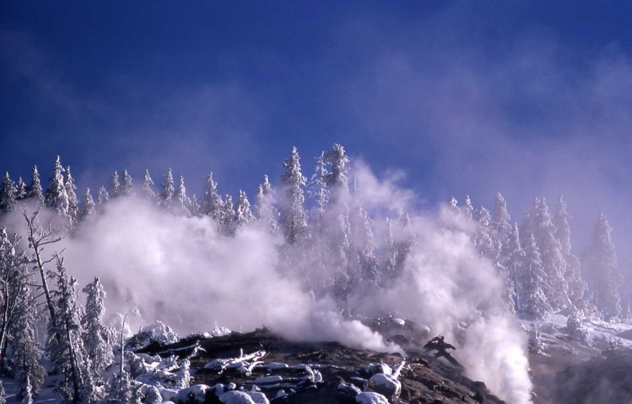Roaring Mountain with frost Photo