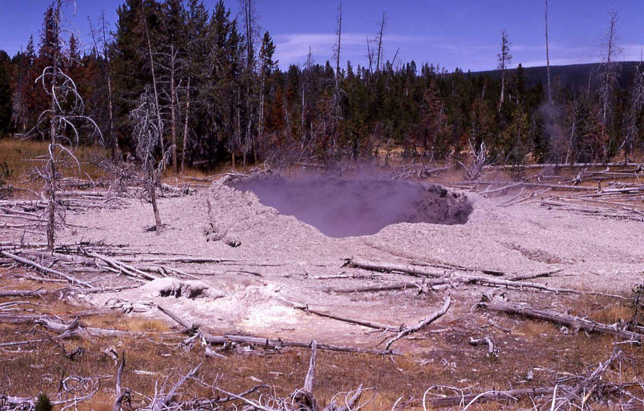 Mud pot - Mud Volcano area Photo